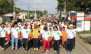 Jalan sehat dalam rangka HUT KAHMI ke-50 di Kabupaten Powuhato