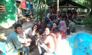 Tampak aktivitas Mahasiswa Pencinta Alam Se-Indonesia di Sambut Pameran Alat Pendakian
